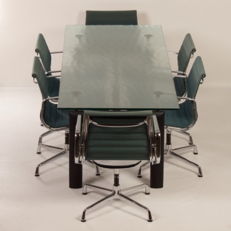 Lc 6 table by Le Corbusier, Jeanneret and Perriand for Cassina, 2000s