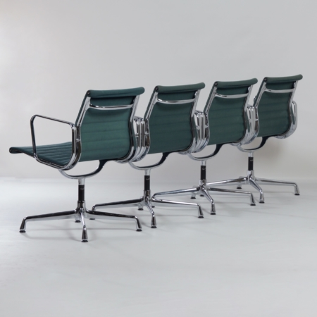 EA 107 Chairs by Charles & Ray Eames for Vitra, 1980s | Set of 4