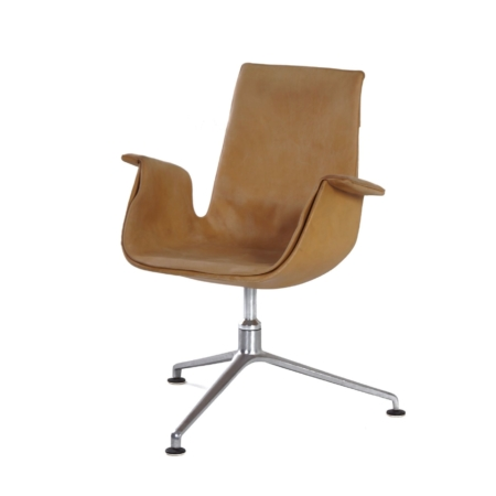Tulip Swivel Chair by Kastholm & Fabricius for Kill International, 1960s | Beige | Mid Century Design