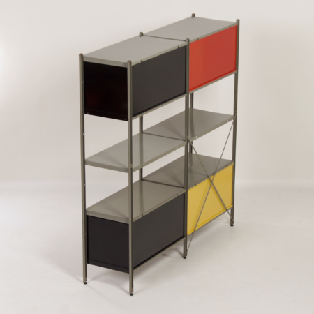 Model 663 Cabinet by Wim Rietveld for Gispen, 1950s (2) – Red, Yellow, Black