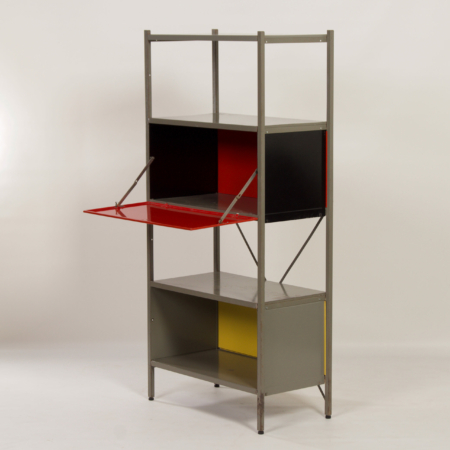 Model 663 Cabinet by Wim Rietveld for Gispen, 1950s (3) – Red, Black, Yellow