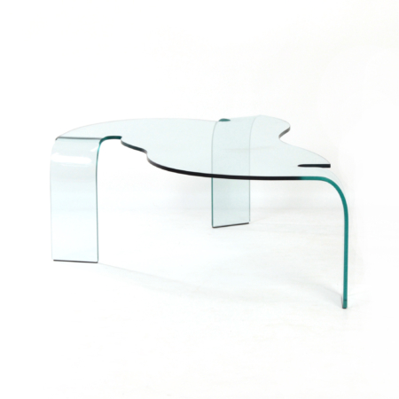 Glass Coffee Table by Hans von Klier for Fiam Italy, 1990s | Mid Century Design