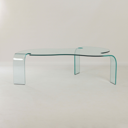 Glass Coffee Table by Hans von Klier for Fiam Italy, 1990s