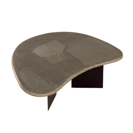 Kidney-Shaped Natural Stone Coffee table by Paul Kingma, 1995 | Mid Century Design