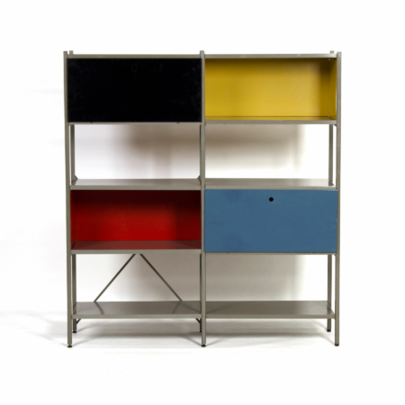Model 663 Cabinet by Wim Rietveld for Gispen, 1950s (1) – Yellow, Black, Red and Blue | Mid Century Design