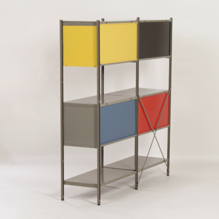 Model 663 Cabinet by Wim Rietveld for Gispen, 1950s (1) – Yellow, Black, Red and Blue