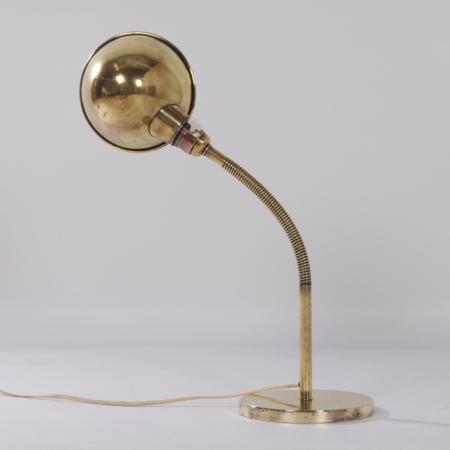 Bronzed Copper Desk Lamp Model No. 15 by H. Busquet for Hala, 1930s