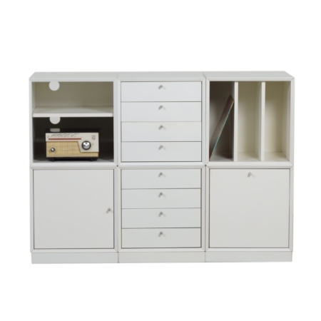 Modular Storage Cubes Cabinet, 1970s – 6 White Cabinets