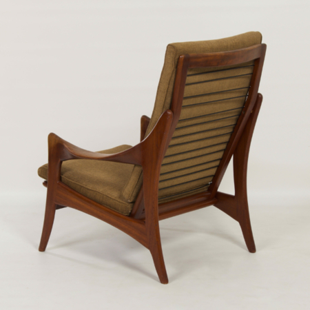 Organic Teak Easy Chair with High Back by The Ster, 1960s