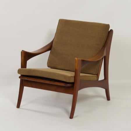 Organic Teak Easy Chair with Low Back by De Ster, 1960s
