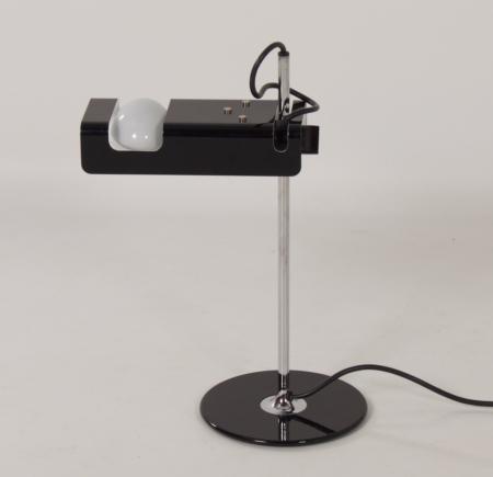 Black Spider Desk Lamp by Joe Colombo for Oluce, 1990s