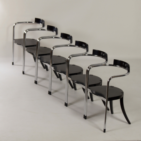Fauno Dining Chairs by David Palterer for Zanotta, Italy in 1987 – Set of Six