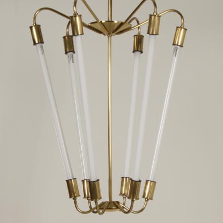 Bauhaus TL Pendant KH 620 in Brass by the Technische Unie, 1950s