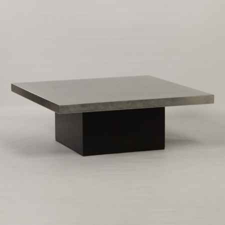 Coffee Table with Etched Metal Top by Heinz Lilienthal, 1970s