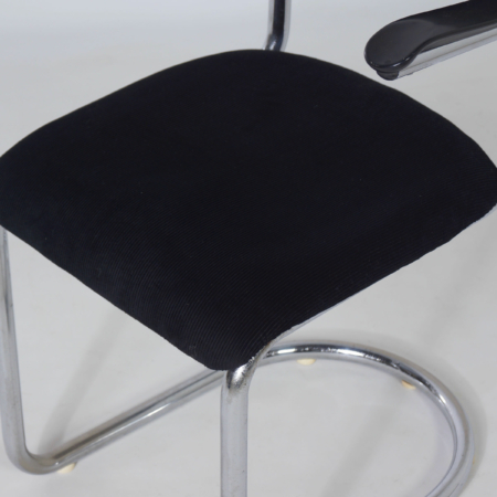 Cantilever Chair model 1017 by Toon de Wit for Gebr. De Wit, 1950s – Reupholstered