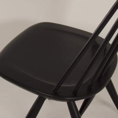 Black Mademoiselle Chair by Ilmari Tapiovaara for Asko, 1960s