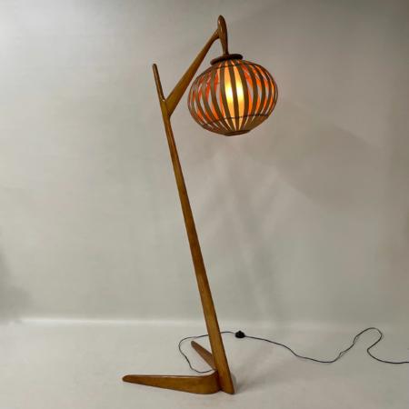 Organic Floor Lamp made of Bent Birch Wood, 1960s.