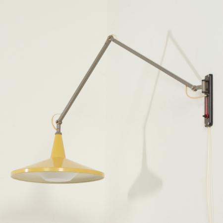 Yellow Panama Wall lamp by Wim Rietveld for Gispen, 1950s