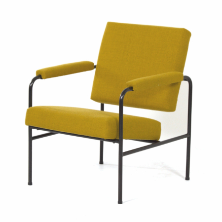 Yellow G 3015 Chair by W.H. Gispen for Riemersma, 1960s | Mid Century Design
