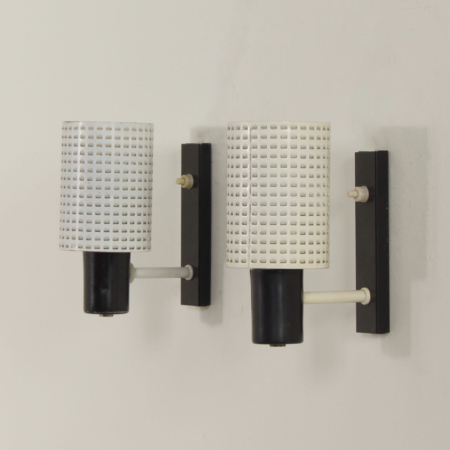 Pair of  Fiesta Wall Lamps by H. Busquet for Hala, 1960s