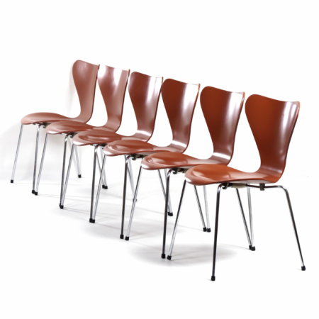 Butterfly Chairs by Arne Jacobsen for Fritz Hansen, 1970s | Set of 6 | Mid Century Design