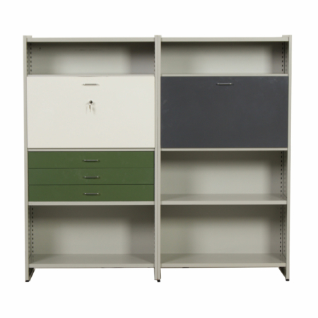 Storage unit 5600 with secretaire by Andre Cordemeyer for Gispen, 1950s | Mid Century Design