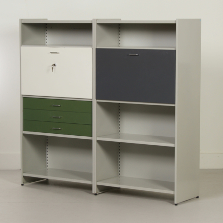 Storage unit 5600 with secretaire by Andre Cordemeyer for Gispen, 1950s