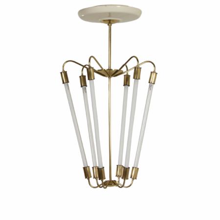 Bauhaus TL Pendant KH 620 in Brass by the Technische Unie, 1950s | Mid Century Design