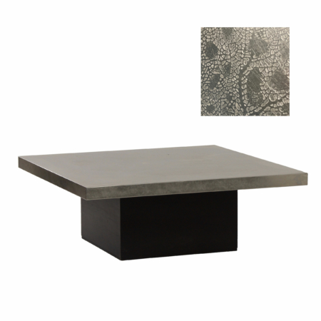 Coffee Table with Etched Metal Top by Heinz Lilienthal, 1970s | Mid Century Design