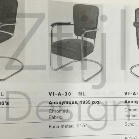 Luxury Armchair 2154 by Paul Schuitema for Fana Metaal, 1930s