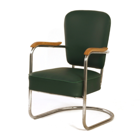 Luxury Armchair 2154 by Paul Schuitema for Fana Metaal, 1930s | Mid Century Design