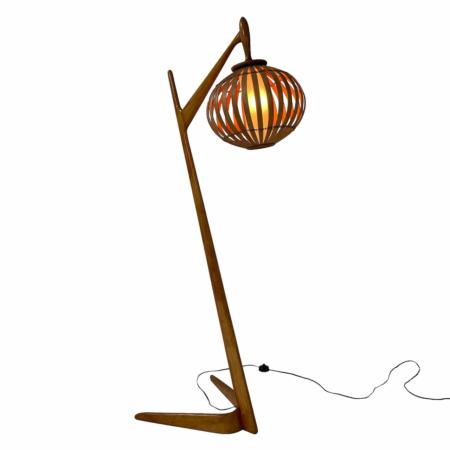 Organic Floor Lamp made of Bent Birch Wood, 1960s. | Mid Century Design