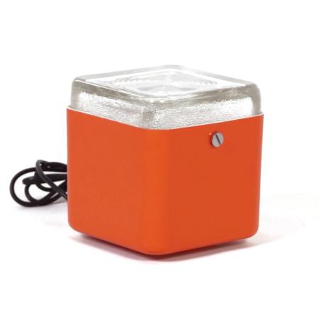 Orange Cube Lamp by Lamperti Robbiate, Italy 1970s | Mid Century Design