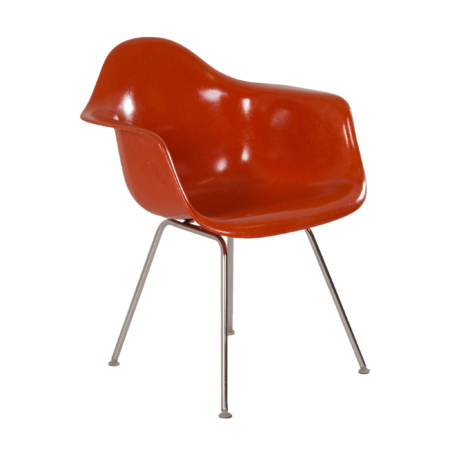 Orange DAX Armchair by Charles & Ray Eames for Herman Miller, Fehlbaum, 1970s | Mid Century Design