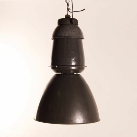 Lot of Enameled Factory Lamps by EFC, 1950s