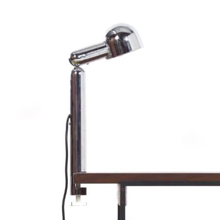Chrome Space Age Table Lamp with Clamp by Cosack, 1970s | Mid Century Design