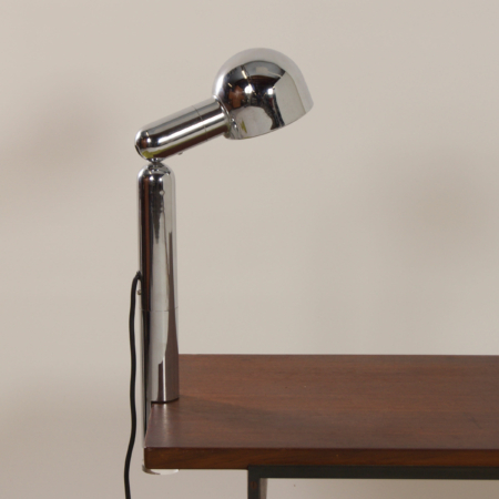 Chrome Space Age Table Lamp with Clamp by Cosack, 1970s