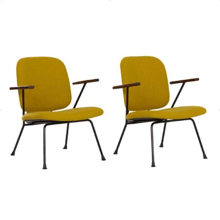 Pair of Armchairs by Gijs van der Sluis for van Der Sluis Steel Furniture, 1960s | Mid Century Design